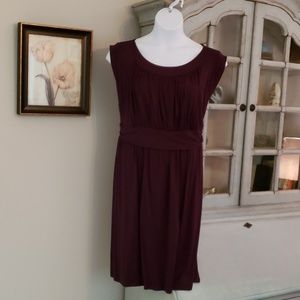 Purple dress with fitted waist. Size 24/26